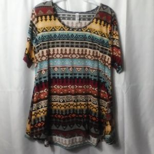 LuLaRoe Geometric  Pattern Blouse